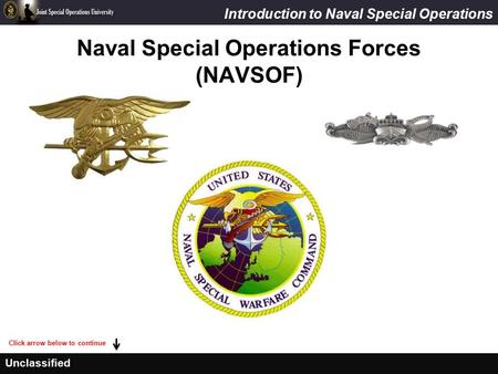 Naval Special Operations Forces (NAVSOF)