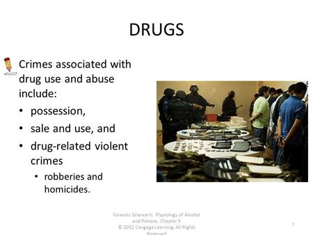 drug related crime essay