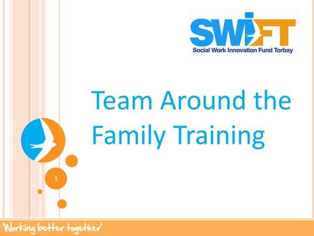 Team Around the Family Training 1. G ROUND RULES Time keeping Confidentiality Respect Mobiles off Networking opportunity –sharing of roles Challenge Jargon.