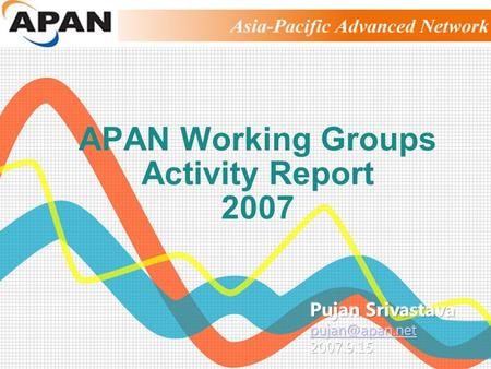 APAN Working Groups Activity Report 2007. APAN Working Groups.