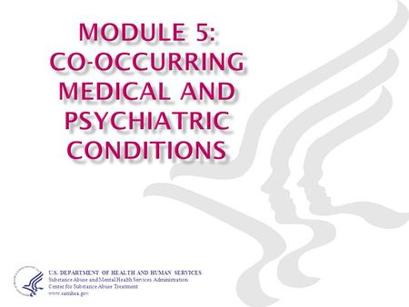 Module 1–1 1TIP45 Training Curriculum U.S. DEPARTMENT OF HEALTH AND HUMAN SERVICES Substance Abuse and Mental Health Services Administration Center for.