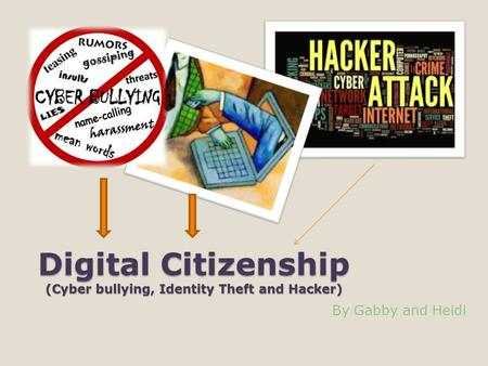 Digital Citizenship (Cyber bullying, Identity Theft and Hacker) By Gabby and Heidi.