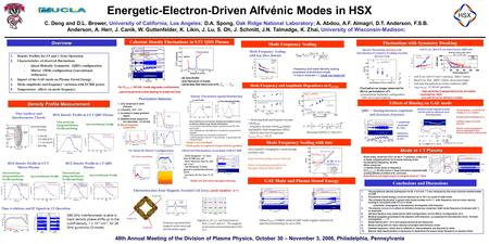 48th Annual Meeting of the Division of Plasma Physics, October 30 – November 3, 2006, Philadelphia, Pennsylvania Energetic-Electron-Driven Alfvénic Modes.