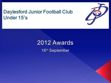 "Daylesford Junior Football Club Under 15's. Daylesford Junior Football Club ""The Team"""