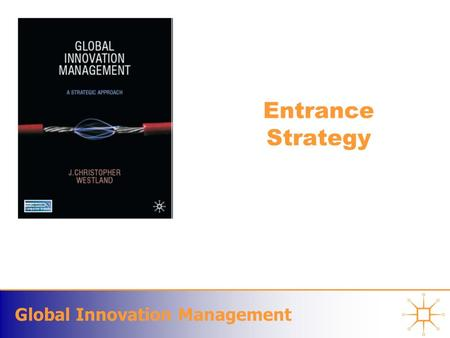 Global Innovation Management Entrance Strategy. Global Innovation Management Choosing Your Competitive Terrain Each new business model –will demand shifts.
