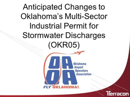 Anticipated Changes to Oklahoma's Multi-Sector Industrial Permit for Stormwater Discharges (OKR05)