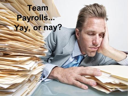 Team Payrolls... Yay, or nay?. Our Question We were curious: Do teams with one player occupying a large percentage of payroll win more games than other.