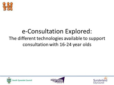 E-Consultation Explored: The different technologies available to support consultation with 16-24 year olds.