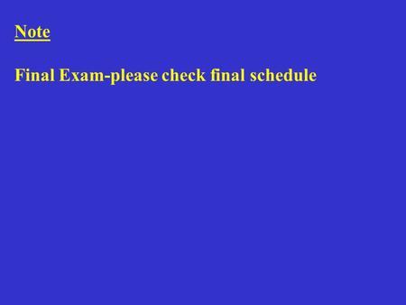 Note Final Exam-please check final schedule. Lecture 24 - 4 March 2011 Proteins.
