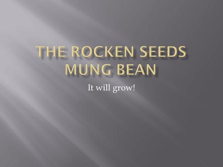 It will grow!.  How many cm will the mung bean grow in a week?