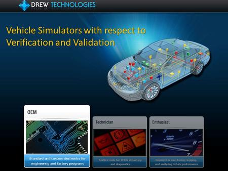 Vehicle Simulators with respect to Verification and Validation.