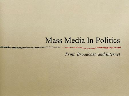 Effect of Media on Voting Behavior and Political Opinions in the United States