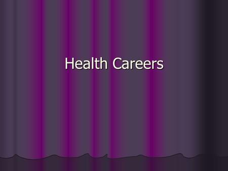 Health Careers. Employment Opportunities for the Future 1. Will result from: 1. Growth of technology 1. Laboratory sciences 2. Imaging services 3. Biomedical.