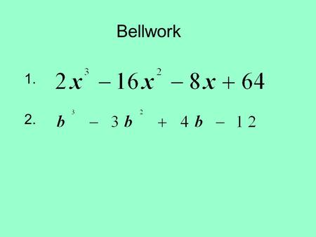 Bellwork 1. 2.. Question Template How many squares are there on a checkerboard? Recall that there are 8 squares on each side. Hint: There are more than.