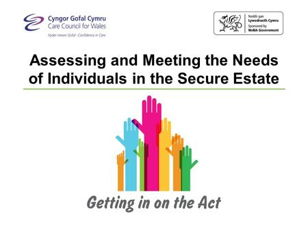 Assessing and Meeting the Needs of Individuals in the Secure Estate.