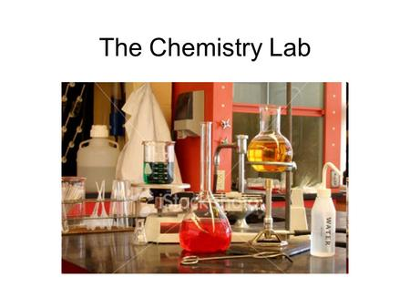 The Chemistry Lab.