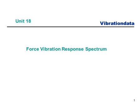 Force Vibration Response Spectrum