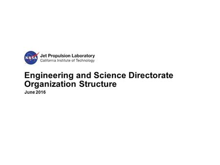 Engineering and Science Directorate Organization Structure June 2016.