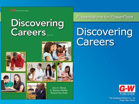 1 The World of Work Chapter 1.1 Importance of Careers Section.