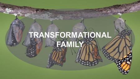 TRANSFORMATIONAL FAMILY. Sanctification + Spirit Led Works ( Will of God ) = A Transformational Family. (communal in heart)