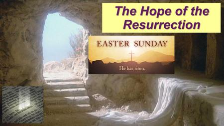 "The Hope of the Resurrection. Isaiah 53:7-8 (LB) ""He was oppressed and He was afflicted, yet He never said a word. He was brought as a lamb to the slaughter;"