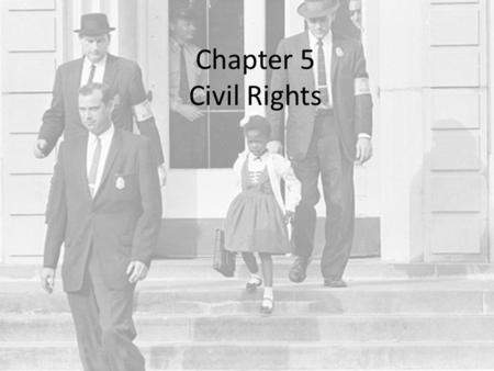 Chapter 5 Civil Rights. Equality Does the Constitution guarantee equality? NO – only equal protection of the law (14 th Amendment) Traditionally – we.