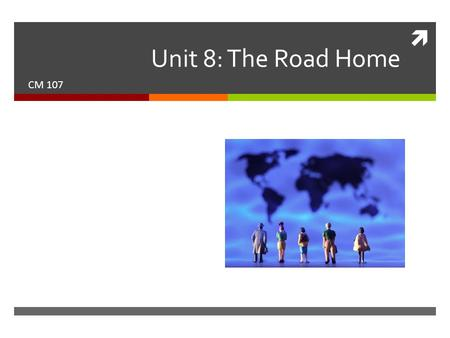  Unit 8: The Road Home CM 107. This week's reading  Chapter 16: Effective Peer Reviews  Chapter 18: Understanding Grading.