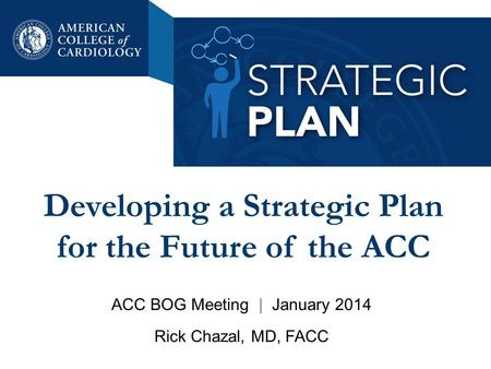 Developing a Strategic Plan for the Future of the ACC ACC BOG Meeting | January 2014 Rick Chazal, MD, FACC.