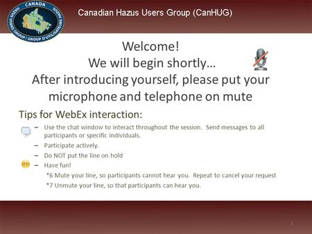 Tips for WebEx interaction: – Use the chat window to interact throughout the session. Send messages to all participants or specific individuals. – Participate.