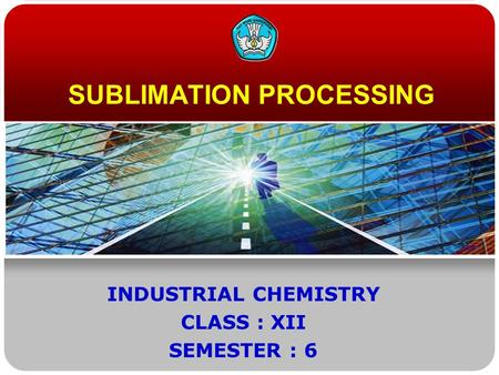 SUBLIMATION PROCESSING
