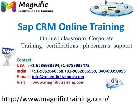 Online | classroom| Corporate Training | certifications | placements| support  Contact: USA : +1-6786933994,+1-6786933475.