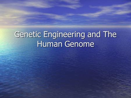 the genetic engineering technique to change the dna of living organisms Manipulating the genetic makeup of living things is called genetic  feel that  tampering with the dna of human beings or other organisms is.