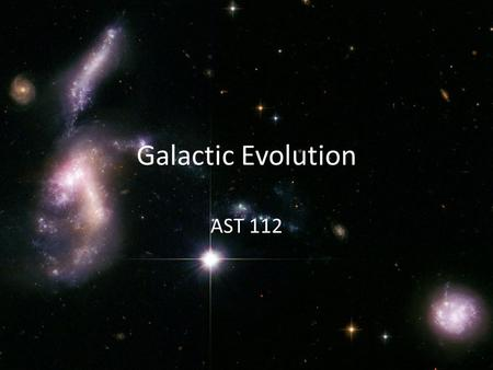 Galactic Evolution AST 112. Four Types of Galaxies Spiral Elliptical Lenticular Irregular Why?