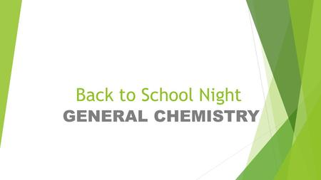 Back to School Night GENERAL CHEMISTRY. Welcome to General Chemistry with Brian Cox     Phone: 720-561-3129.