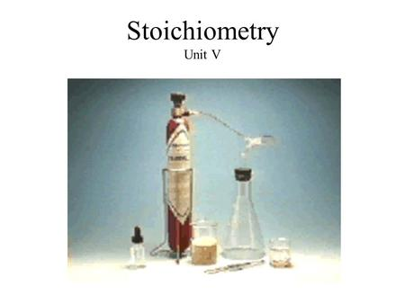 Stoichiometry Unit V I. The Mole a) Definition: An arbitrary unit used in chemistry to unite three measured properties of matter: –Mass –Volume –# of.