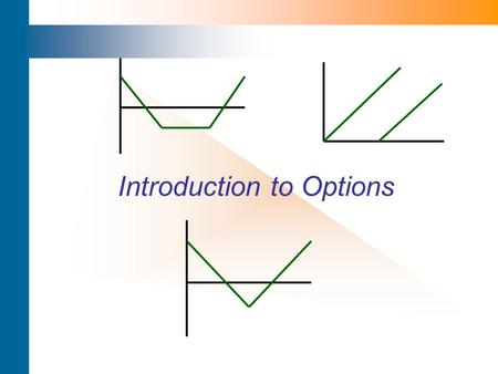 Introduction to Options. Option – Definition An option is a contract that gives the holder the right but not the obligation to buy or sell a defined asset.
