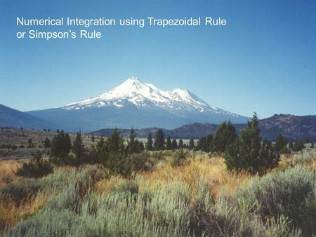 Numerical Integration using Trapezoidal Rule