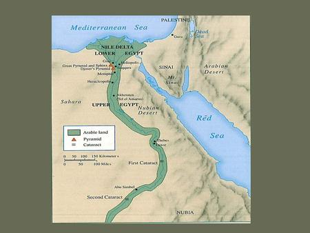 The Kingdom of the Nile Egypt, like Mesopotamia, was a river valley civilization The Nile River was of central importance to the development of Egyptian.