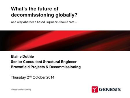 What's the future of decommissioning globally?