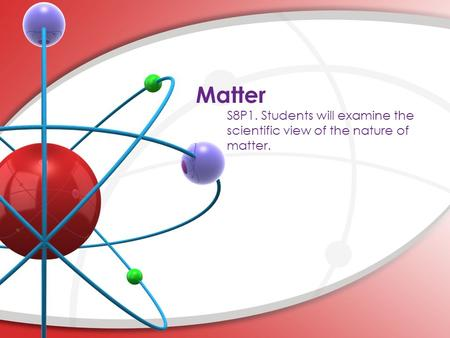 Matter. Smallest basic unit of matter. An element is made of one type of atom. Atoms combine to form molecules. A molecule can be made from two or more.