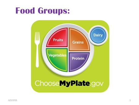 6/9/20151. The nutrients we need in our daily diet are found in the 5 food groups. The recommended amount we need of each food group is different for.