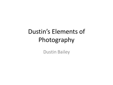 Dustin's Elements of Photography Dustin Bailey. Depth of field The flower and the bee are in focus and everything else is out of focus. Owner: jpellgen.