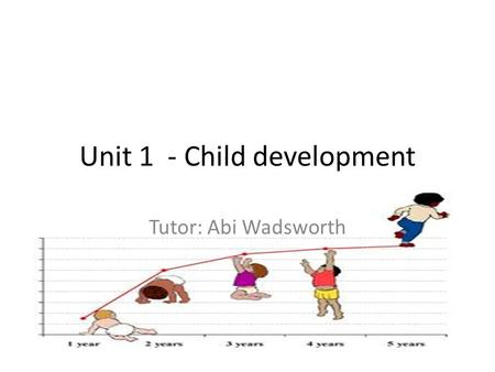 Unit 1 - Child development