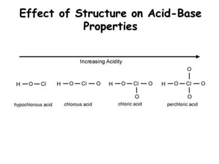 Effect of Structure on Acid-Base Properties. Applications of Aqueous Equilibria.