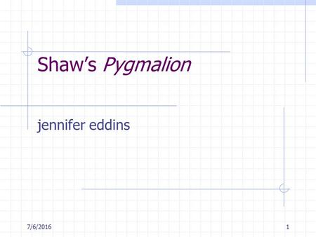 pygmalion as a shavian play Get an answer for 'in what way is pygmalion a shavian play please explain the term shavian play' and find homework help for other pygmalion questions at enotes.