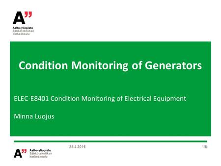 Condition Monitoring of Generators