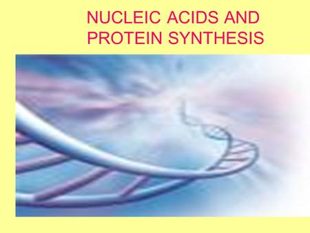 NUCLEIC ACIDS AND PROTEIN SYNTHESIS. DNA complex molecule contains the complete blueprint for every cell in every living thing Amount of DNA that would.