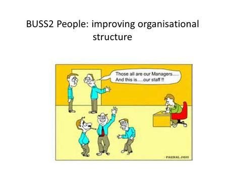 BUSS2 People: improving organisational structure.