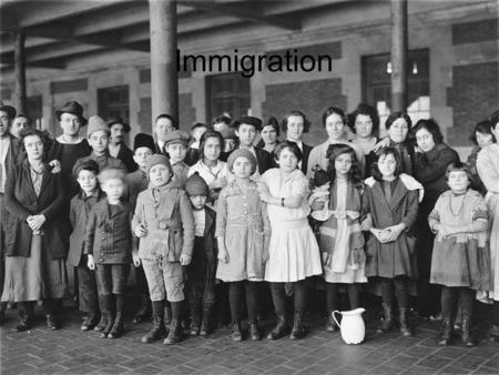 Immigration. Why Did People Emigrate? New arrivals were taken by ferry to the main building at Ellis Island Opened in 1892, the first immigrant to arrive.