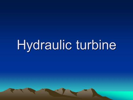 Hydraulic turbine. History History Water wheels have been used for thousands of years for industrial power. Their main shortcoming is size, which limits.